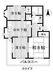 東京都中野区上鷺宮の賃貸マンションの間取り