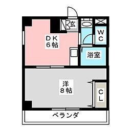 シャローム東仙台[3階]の間取り
