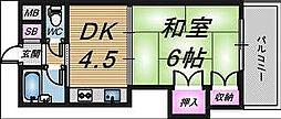 グレイスフル中崎I[6階]の間取り