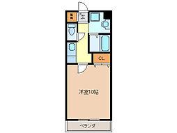 亀山マンションB棟[2階]の間取り