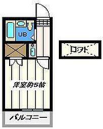 東京都江戸川区谷河内2丁目の賃貸アパートの間取り