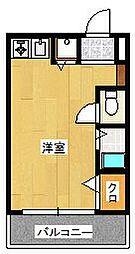 モントーレ六本松[2階]の間取り