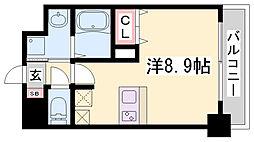 ファーストフィオーレ三宮イーストII 3階1Kの間取り