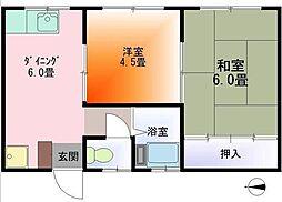 中谷コーポ第2[202号室]の間取り