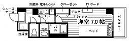 学生会館 Aile(エール)草薙駅前[食事付き] 2階1Kの間取り