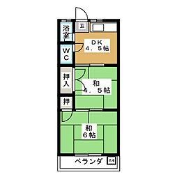 コーポイトウ[2階]の間取り