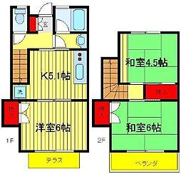 [一戸建] 茨城県取手市井野台5丁目 の賃貸【/】の間取り