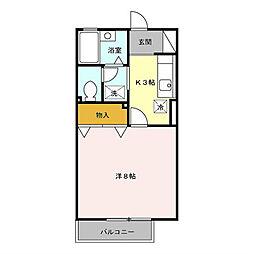 埼玉県朝霞市三原4丁目の賃貸アパートの間取り