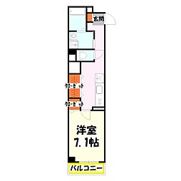 エスワンアパートメント[3階]の間取り