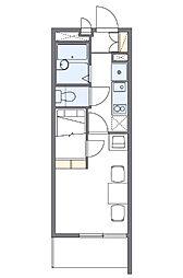レオパレス青柳(33872-305) 3階1Kの間取り