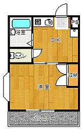 コスモ南太田[202号室号室]の間取り
