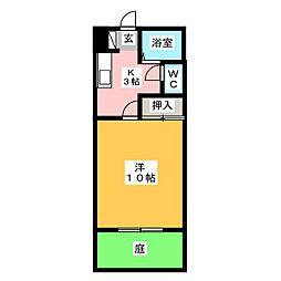 プラザハイツヤマト[1階]の間取り