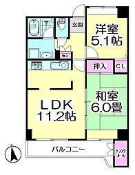 コーポレート竹の塚二丁目[501号室]の間取り