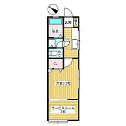 ツインハウスB[1階]の間取り