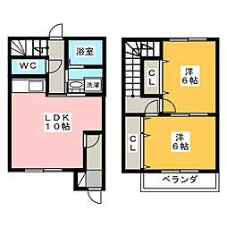 [テラスハウス] 静岡県浜松市南区高塚町 の賃貸【/】の間取り