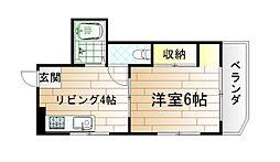 スリム西小倉[2階]の間取り