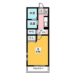 愛知県名古屋市中川区横前町の賃貸マンションの間取り