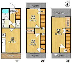 [テラスハウス] 神奈川県川崎市多摩区菅馬場2丁目 の賃貸【/】の間取り
