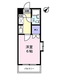 サンノーブル勝田台[201号室]の間取り