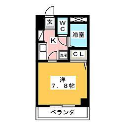 ロイヤルピジョン八田[3階]の間取り
