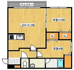 北海道札幌市中央区北十四条西15丁目の賃貸マンションの間取り