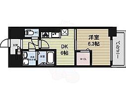 メイボーテセラ 9階1DKの間取り