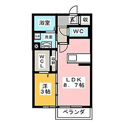 フラール ドゥ[2階]の間取り