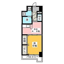 レジデンス19[5階]の間取り