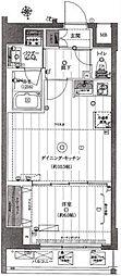東京都台東区千束3丁目の賃貸マンションの間取り