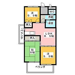 フェステ菊屋第6[6階]の間取り