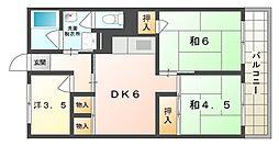 メロディハイム守口[8階]の間取り