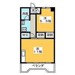 メゾン水戸[4階]の間取り