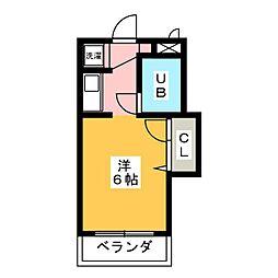 シーガル・ウエスト[5階]の間取り