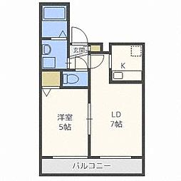 HGS MinamiAsabu 1st[2階]の間取り