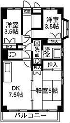 コーポ藤岡[3階]の間取り