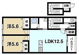 ユニゾン百楽園I[2階]の間取り