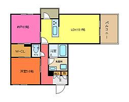 仮称 シャーメゾン御厨東2丁目[305号室]の間取り