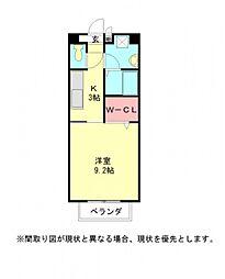 愛知県一宮市馬見塚字又木の賃貸アパートの間取り