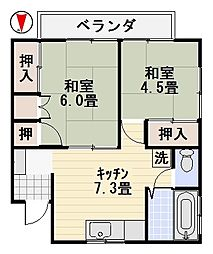 中島荘II[202号室]の間取り