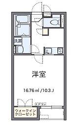 小田急小田原線 海老名駅 バス20分 城山下車 徒歩3分の賃貸アパート 2階1Kの間取り