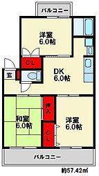 鳥井コーポ[3階]の間取り