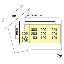(仮)D-room飯山満町 A[203号室]の外観