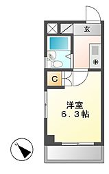シングルハイツ新栄[5階]の間取り