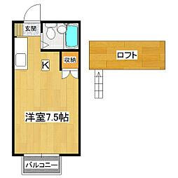 桂コーポ高津A棟[2階]の間取り