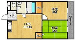 ライズ1番館[3階]の間取り