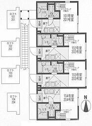 ヒルスミキ妙蓮寺[2階]の間取り