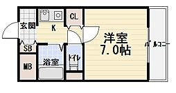 メゾン・シェポル[7階]の間取り