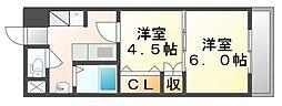 広島県福山市御幸町大字上岩成の賃貸マンションの間取り