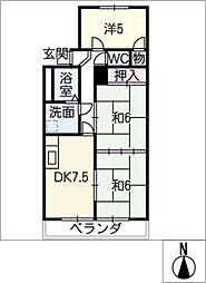 メゾン ド タミー[3階]の間取り