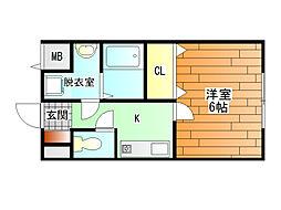 アスキコート[4階]の間取り